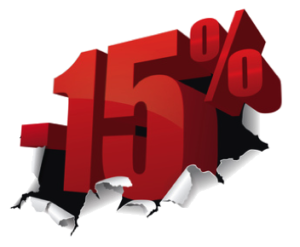 скидка 15%